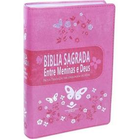 Bíblia Sagrada Entre Meninas E Deus Frete Grátis
