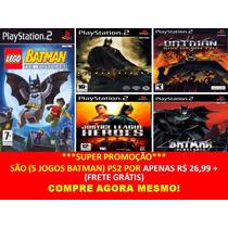 Liga Da Justiça Play 2 (5 Jogos Ps2 Justice League Heroes