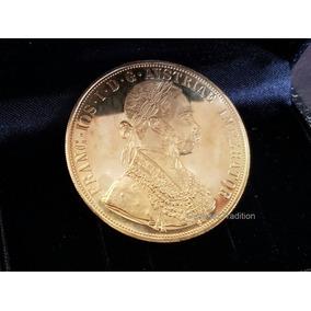 Moeda 4 Ducados Ouro 1915 Austria 13,95 Gramas 22k