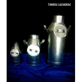 Tarro Lechero Jarra Lechera Florero Zinc Chapa Vintage