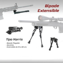 Bipode Bipie Extensible Harris Paintball Caceria Rifle Grip