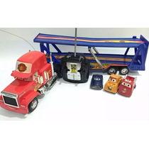 Carreta Controle Remoto Carros Mackquen Com 03 Carrinhos