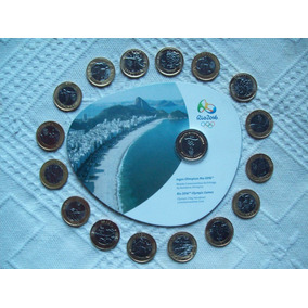 Coleção Completa Olimpíadas: 17 Moedas (bandeira No Blister)