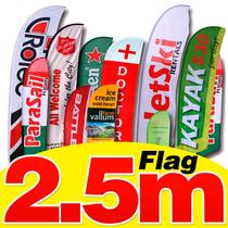 Flag Banner 2.5m Diseño+estructura+empresión Hd, Sublimación