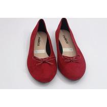 Sapatilha - Lacinho 0124 Promocao Moleca Vermelha