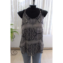 Blusa Asiatica Casual Chifon Coctel Formal Tribal Talla M