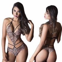 Fantasia Sensual Body Oncinha - Garota Gata (lingerie)