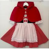 Vestido Fantasia Infantil Chapeuzinho Vermelho Promoção