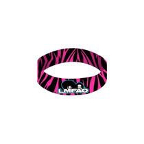 Hot Topic Muñequera Pulsera Lmfao Pink Zebra Rubber Bracelet