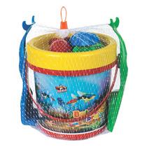 Super Baldão Praia Com 7 Peças - Brinquedos Pedagógico