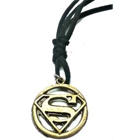 Cordão Colar Corrente Maculino Ajustável - Superman