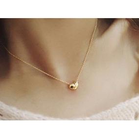 Collar Dije Corazon Dorado Plata Oro Bisuteria Envio Gratis