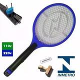 Raquete Mata-moscas Recarregável Elétrica 110\220