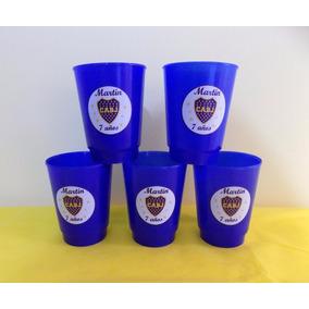 Vasos Plásticos Boca Juniors Futbol Personaliz.x 10 Unid.