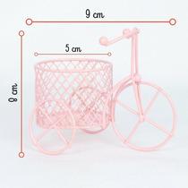 36 X Mini Triciclo Bicicleta Aramado Com Cestinha Decoração
