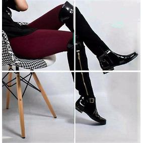 Botas Caña Alta Para Mujer, Con Apliques En Charol Moda 2017