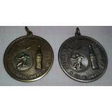 Coca-cola Refrescos Lote1 Medalhas Futebol Ouro Prata 4cm Di