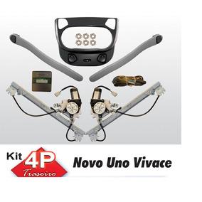 Kit Vidro Eletrico Uno Novo Vivace Traseiro Sensorizado
