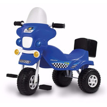 Triciclo Infantil Policia Con Baul Porta Objetos Kuma Kids