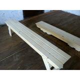 banco plegable madera mts rustic eco design fabrica