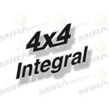 Adesivo 4x4 Integral Para Lada Niva