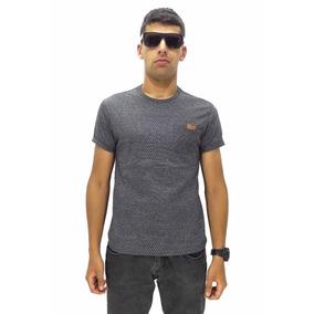 Camiseta Manga Curta Vlcs Triangle Slim Fit Sem Capuz Gray