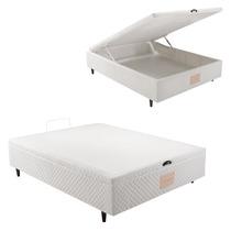Base Box Casal Com Baú Herval Idea Branco 35 X 138 X 188cm