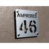 Números Residenciales De Aluminio Para Casa, Oficina. Slim S