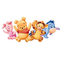 Kit Imprimible Modificable Winnie Pooh Bebe Full Fiesta