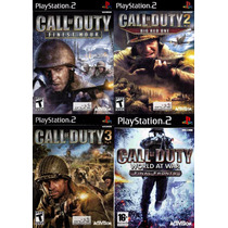 Call Of Duty Finest Hour Play 2 (kit 4 Jogos Ps2 Guerra