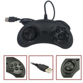 Controle Sega Mega Drive Joystick Usb Jogos Emulador Pc