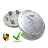 Calota Centro Tampa De Roda Réplica Porsche Fucks Prata