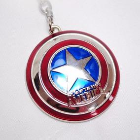 Chaveiro Escudo Capitão America Em Metal Color