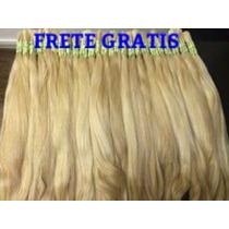 Cabelo Humano Loiro Liso P/mega Hair 70 A 75 Cm 150gramas