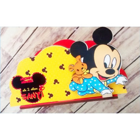 Servilleteros Souvenirs Mickey Mouse Bebe