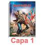 Caderno Iron Maiden Rock 1 Materia 1x1 96 Folhas - Escolha