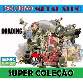 7 Jogos Metal Slug 1, 2, 3, 4, 5, 6, X Coleção Ps2