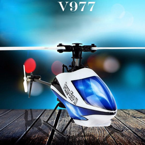 Hélicoptero Wltoys V977 6canais Brushless Rc Rtf 3d Completo