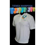 Chemises Manga Corta Blaco Con Cuello Columbia