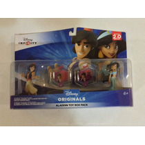 Set Figuras Disney Infinity Aladdin & Jazmin Toy Box Pack