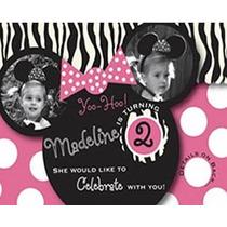 Invitación Minnie Básica Personalizada Fotografía