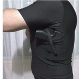 Camiseta / Coldre - Manga Curta - Masculina - Preta - Destra