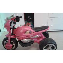 Moto Elétrica Da Barbie Rosa