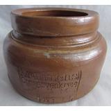 Antigo Pote Krumeichs Conservenkrug Em Cerâmica Grés - A93
