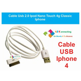Cable Usb 2.0 Ipod Nano Touch 4g Classic Iphone Y +