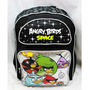 16 \ Angry Birds Espacio Negro Y Plata Large Backpack-tote-