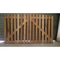 Portón De Madera - Dos Hojas - 1,80 X 3mts