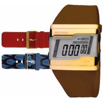 Relógio Mormaii Digital Kit Troca Pulseira Fza/8r Original
