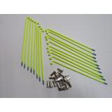 Jogo Raio Dianteiro Biz 125 4mm Verde Neon