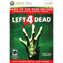 Left 4 Dead Game Of The Year Edition Xbox 360 | Lacrado Novo